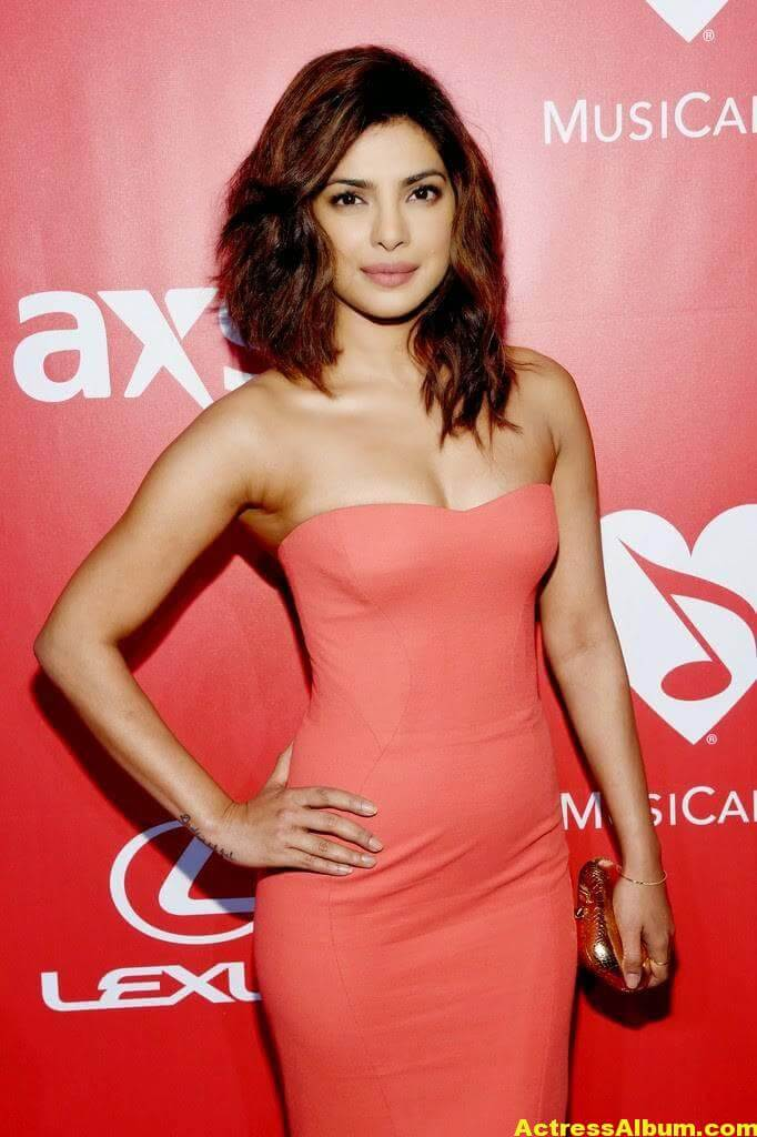 Priyanka Chopra Hot Stills in Red Dress 2