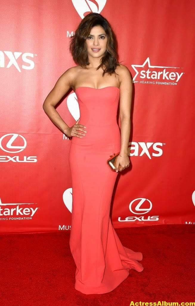 Priyanka Chopra Hot Stills in Red Dress 3