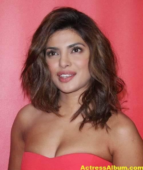 Priyanka Chopra Hot Stills in Red Dress 4