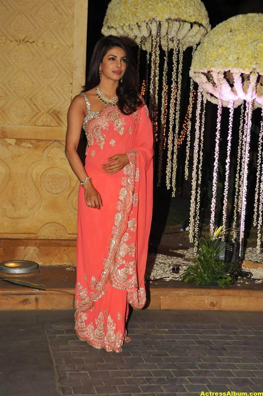 Priyanka Chopra Latest Hot Stills In Pink Saree 1