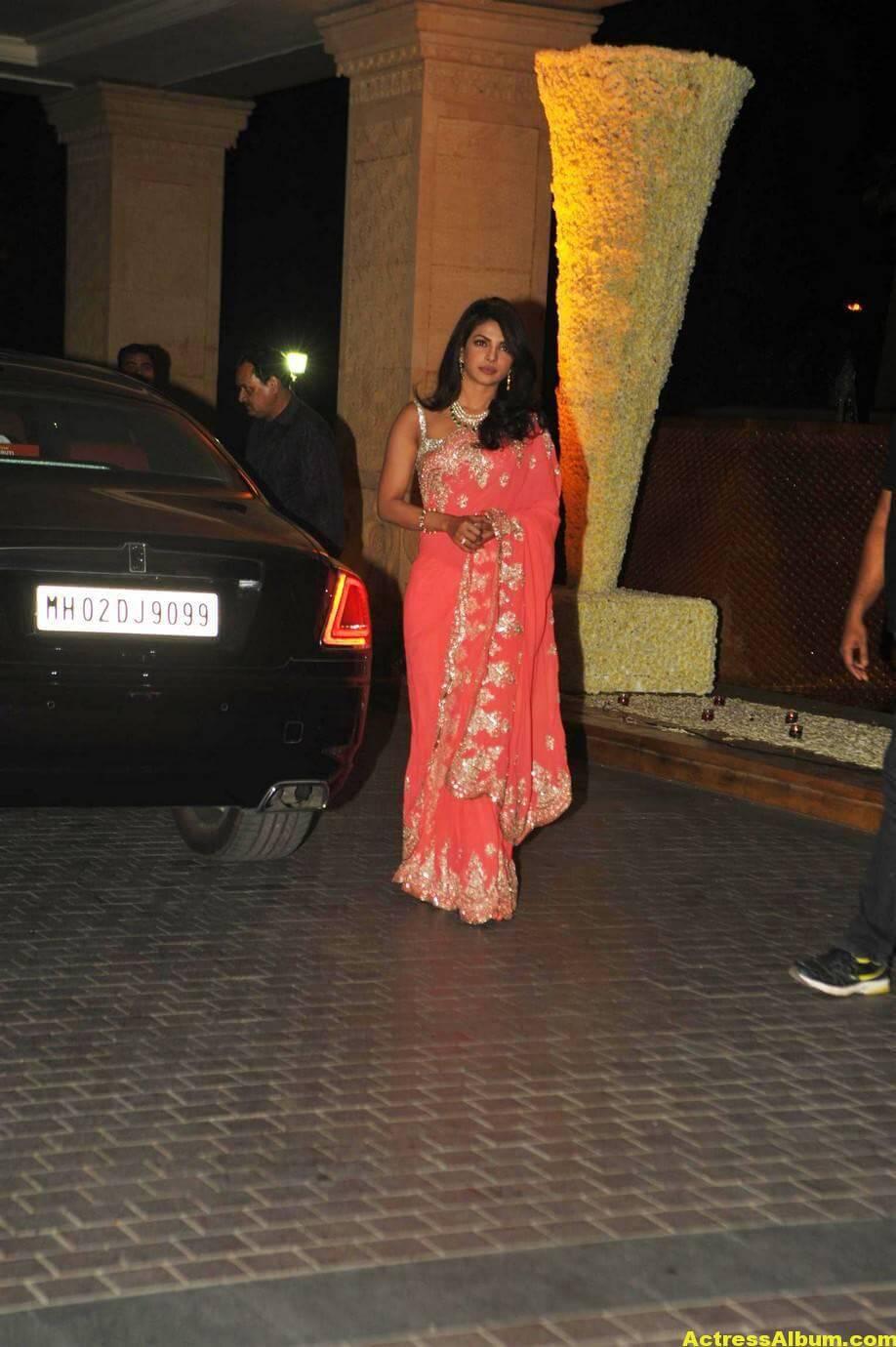 Priyanka Chopra Latest Hot Stills In Pink Saree 2