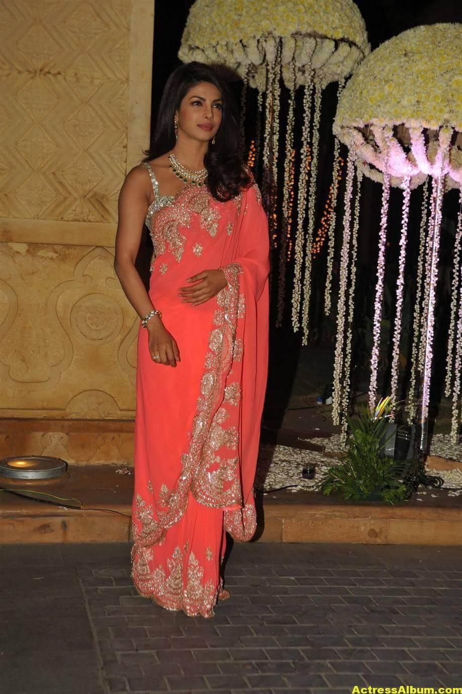 Priyanka Chopra Latest Hot Stills In Pink Saree 3