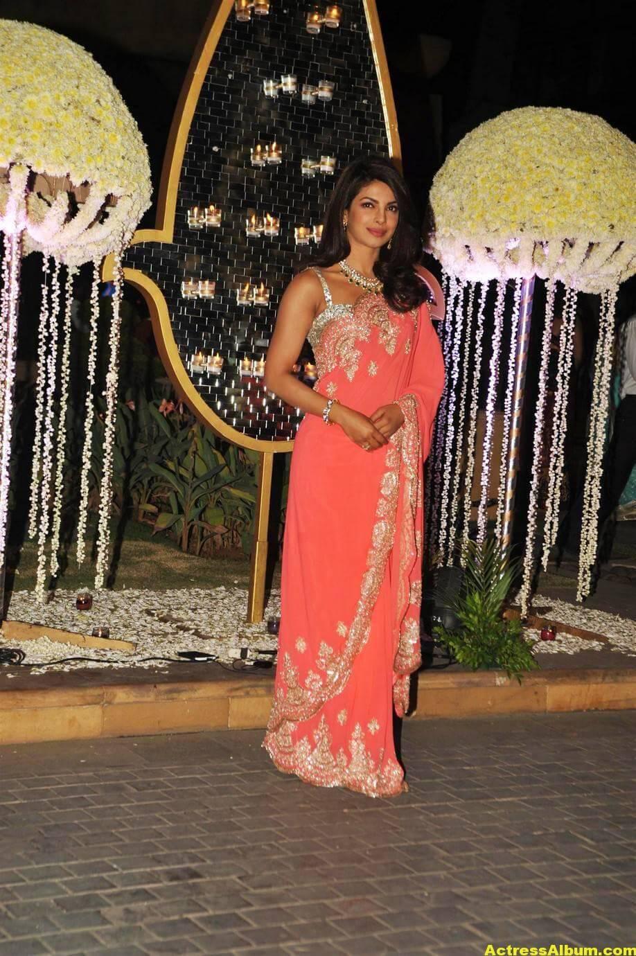 Priyanka Chopra Latest Hot Stills In Pink Saree 4