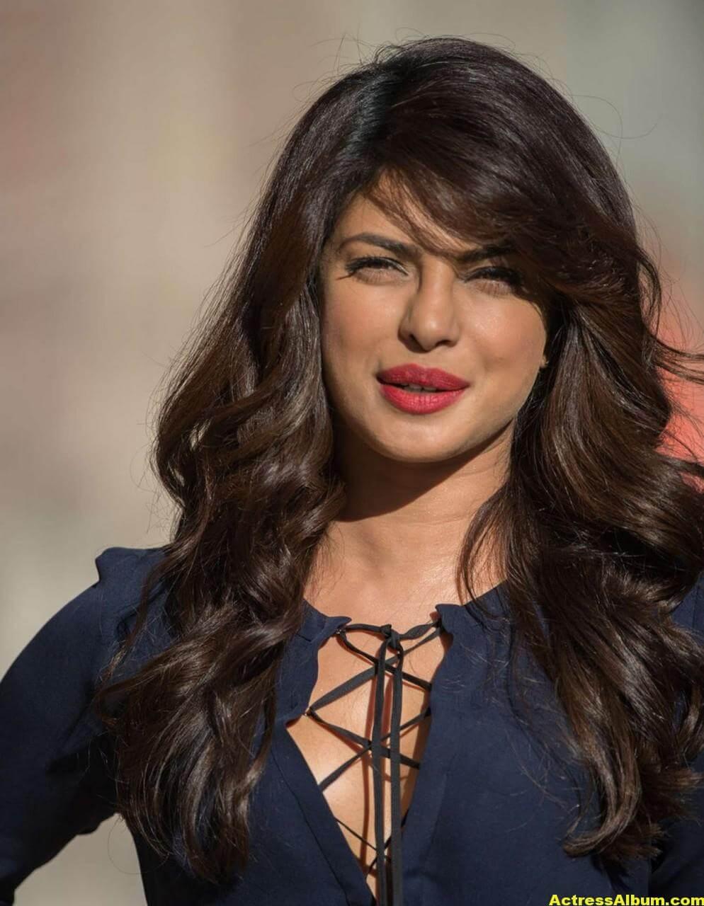 Priyanka Chopra Latest Stills in Blue Dress 1