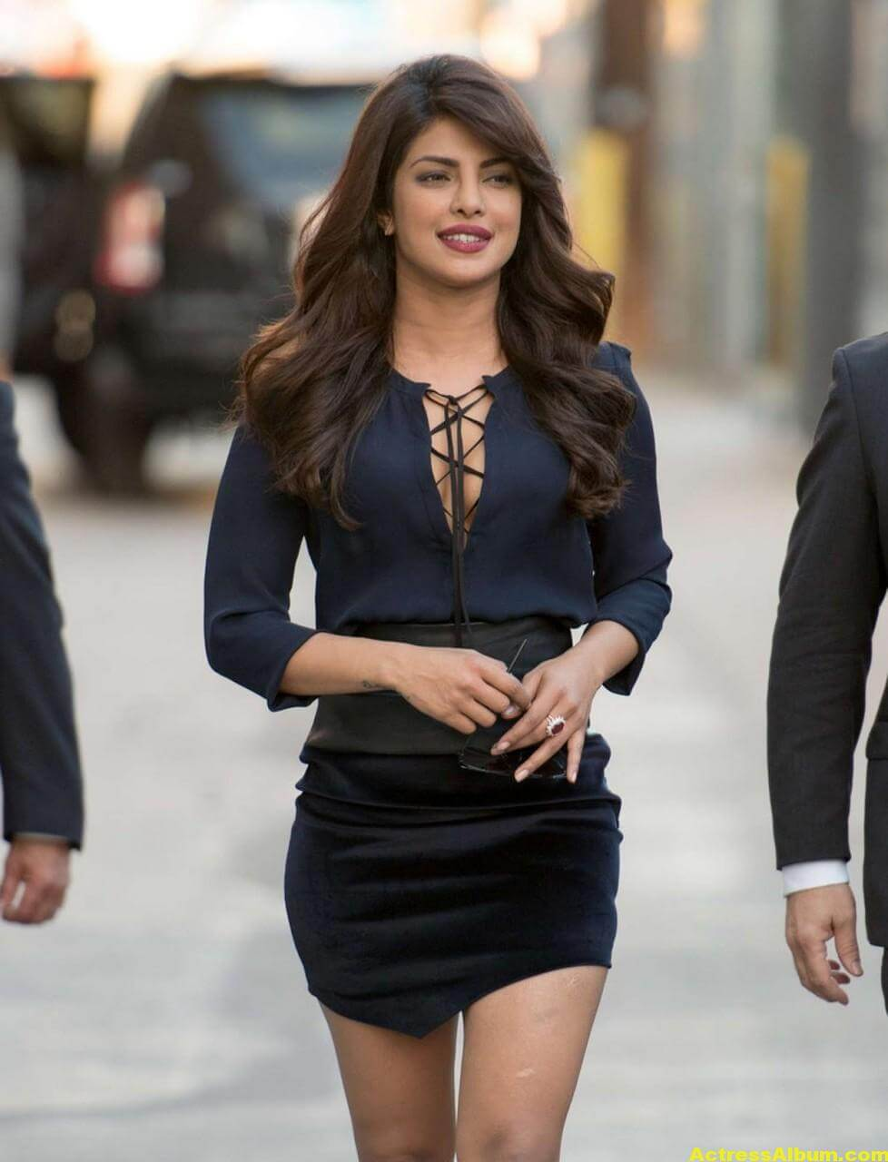 Priyanka Chopra Latest Stills in Blue Dress 4