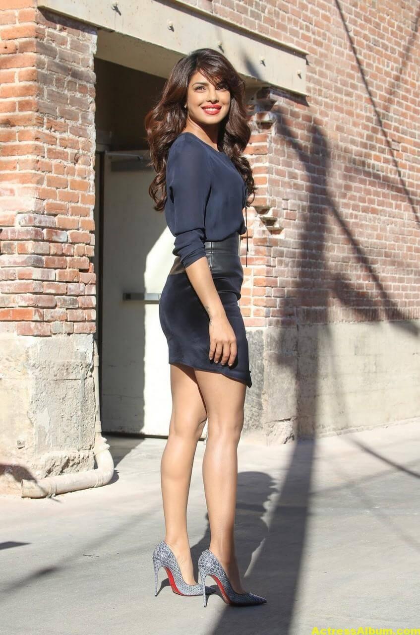 Priyanka Chopra Latest Stills in Blue Dress 5