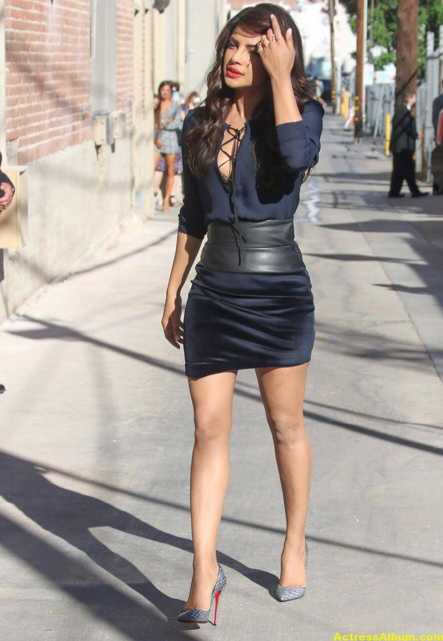 Priyanka Chopra Latest Stills in Blue Dress 6