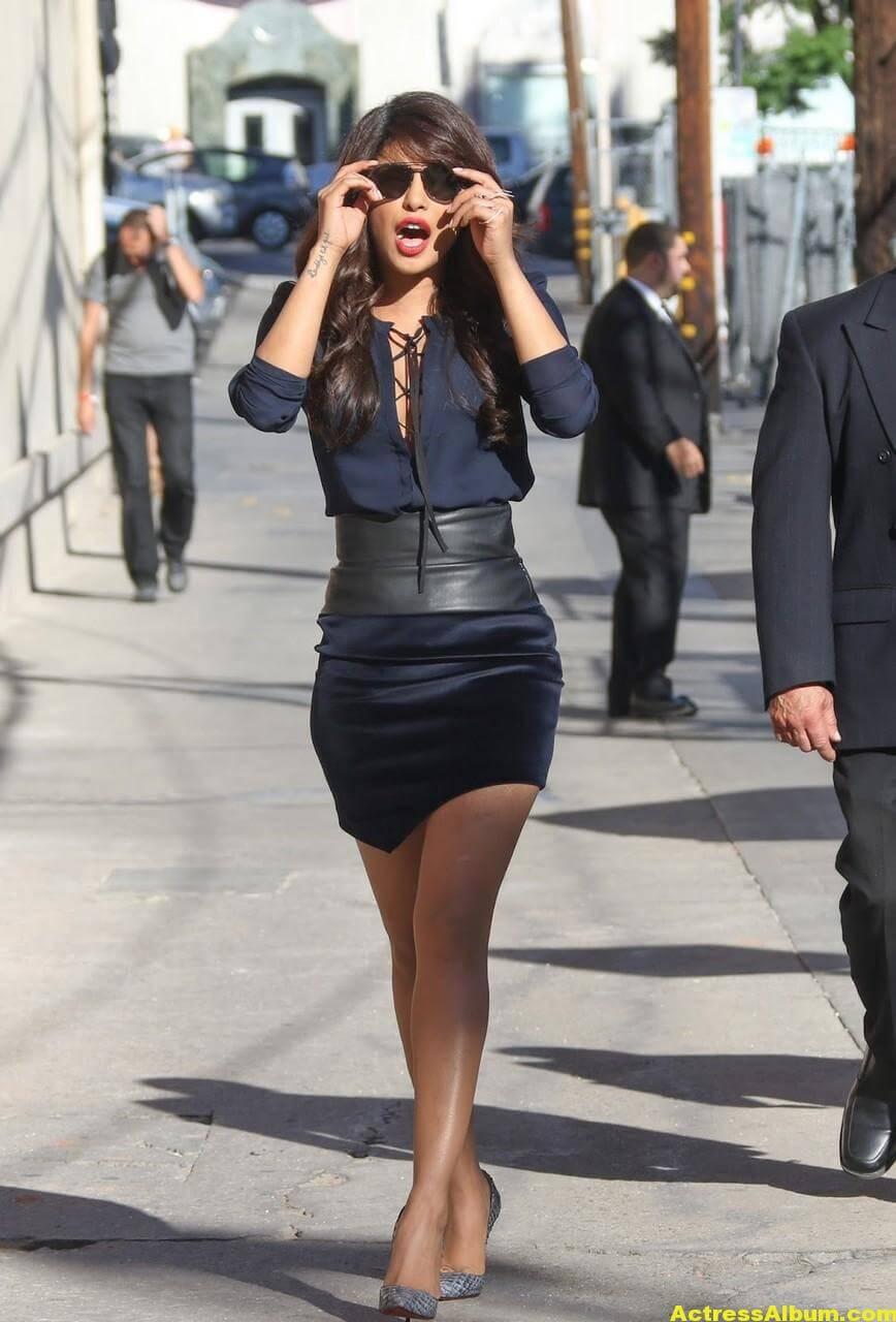 Priyanka Chopra Latest Stills in Blue Dress 7