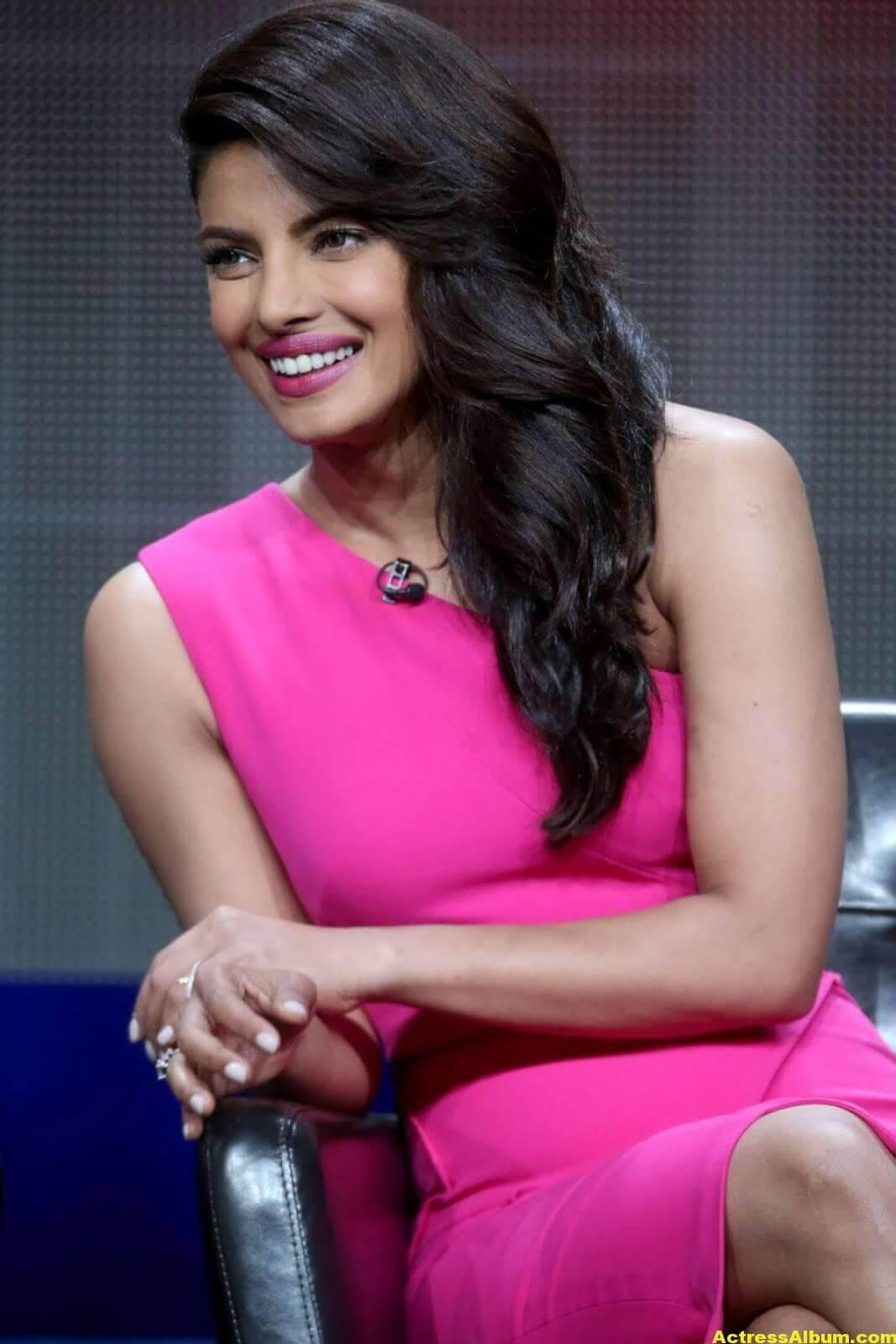 Priyanka Chopra Latest Stills in Pink Dress 2