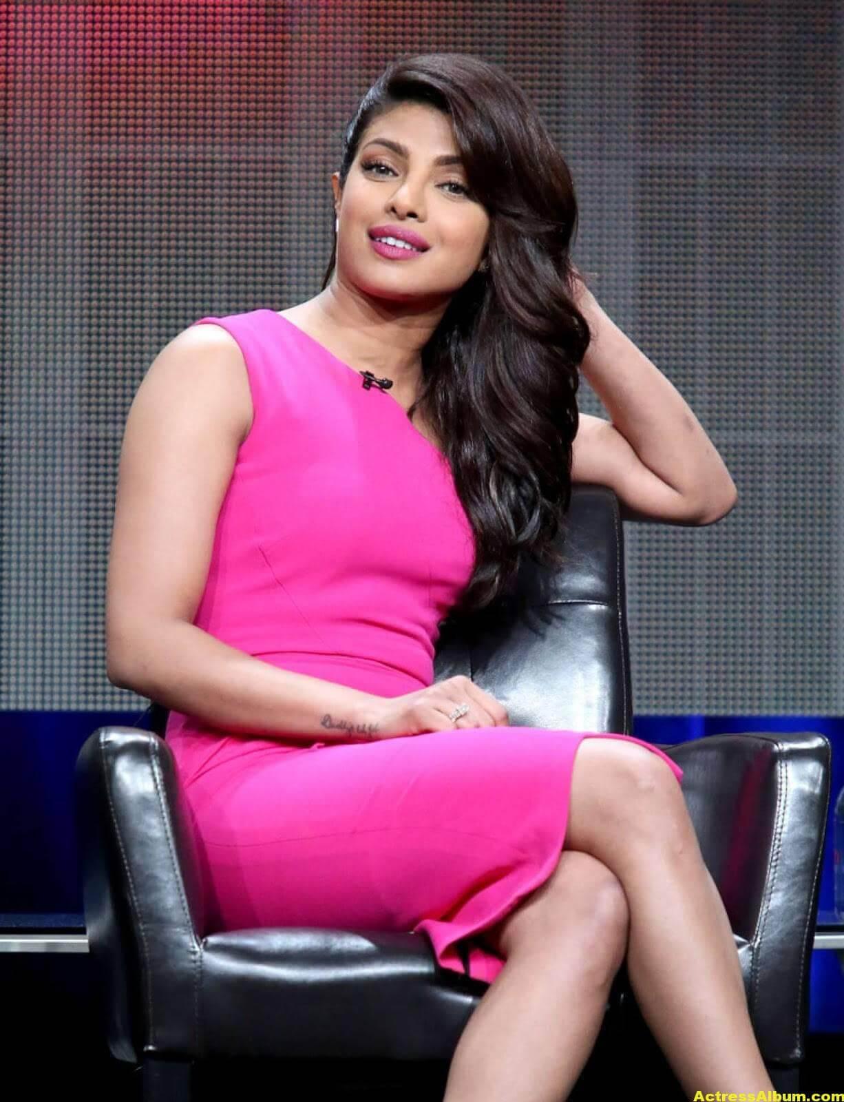 Priyanka Chopra Latest Stills in Pink Dress 3