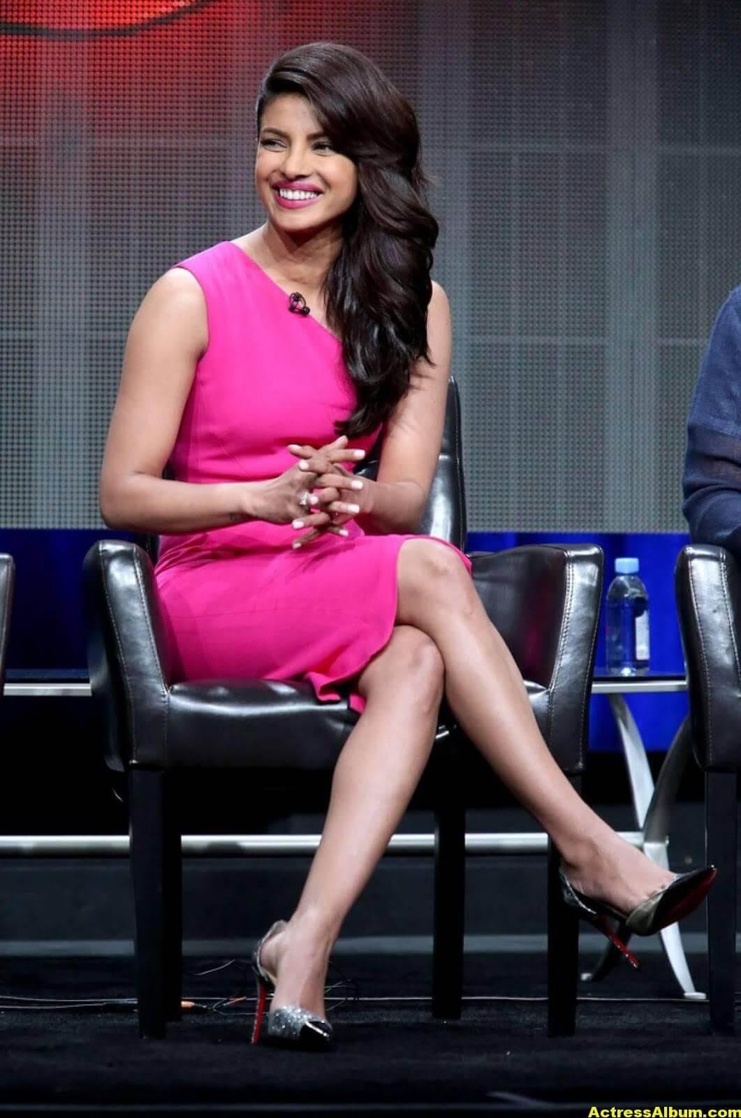 Priyanka Chopra Latest Stills in Pink Dress 4