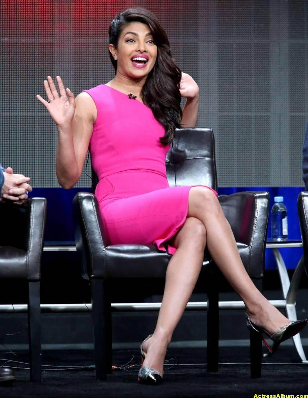 Priyanka Chopra Latest Pictures In Pink Dress - Actress Album