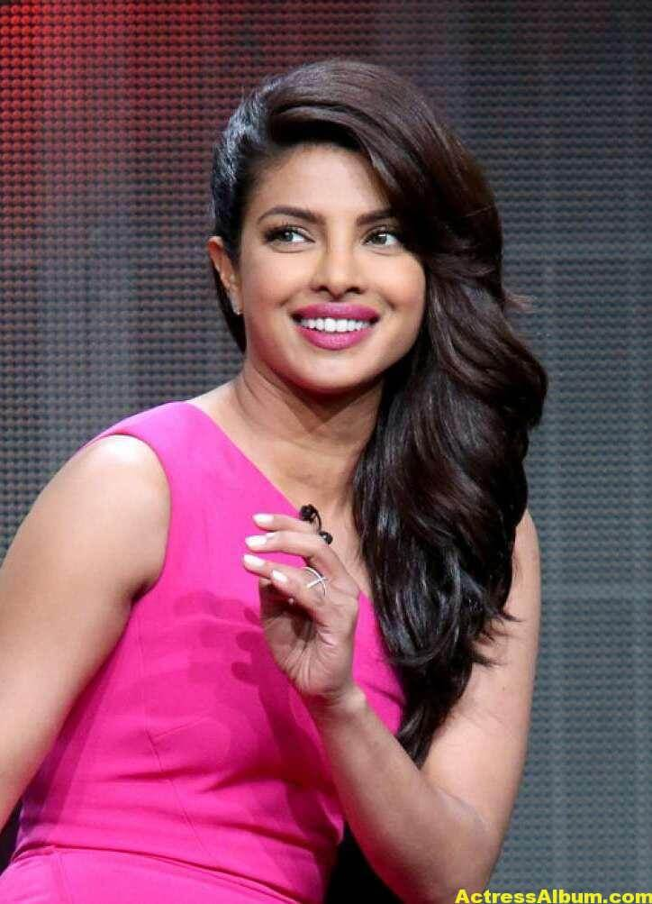 Priyanka Chopra Latest Stills in Pink Dress 6