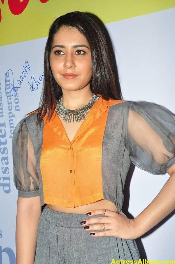 Raashi Khanna Stylish Images In Yellow Top