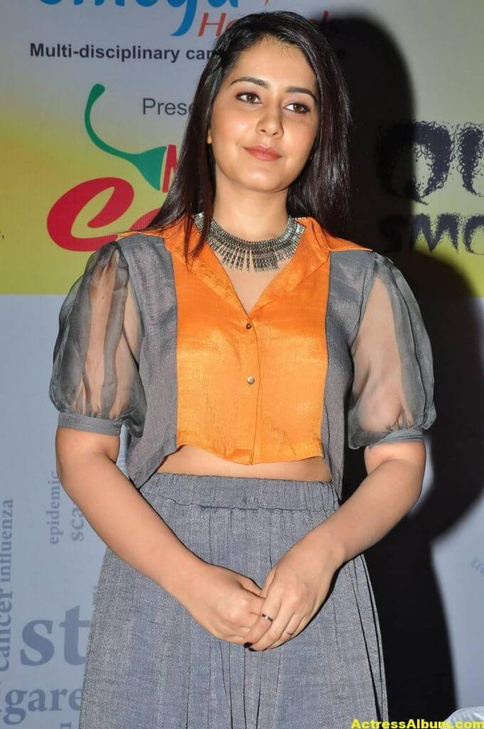 Raashi Khanna Stylish Images In Yellow Top 6