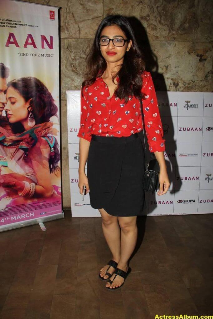 Radhika Apte Legs Show Stills In Red Dress