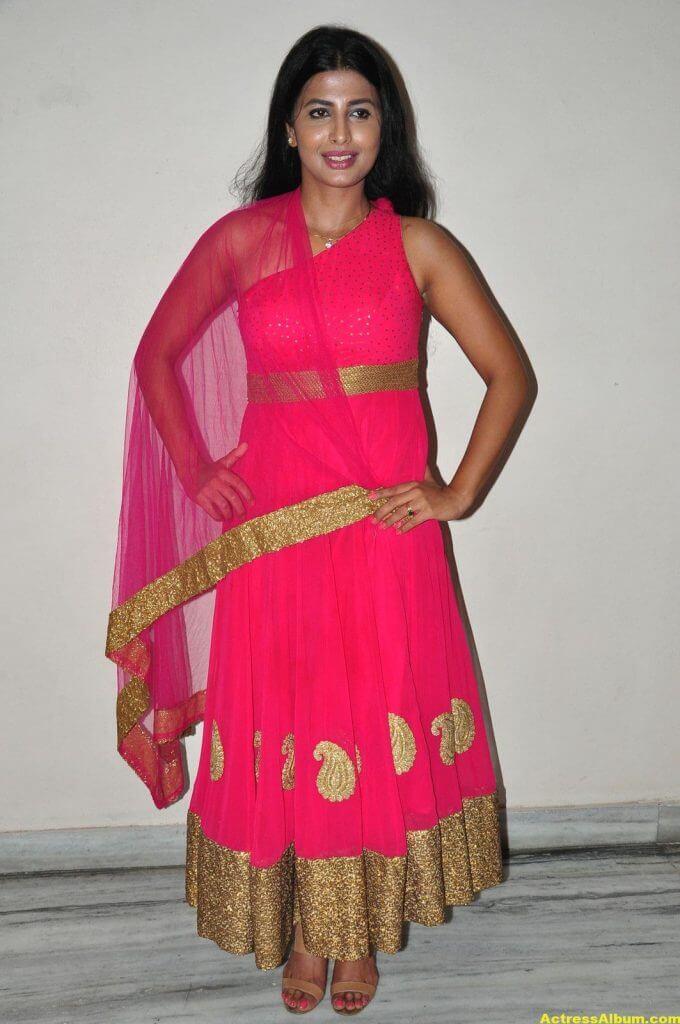 Rajshri Ponnappa Hot Stills In Pink Dress 5