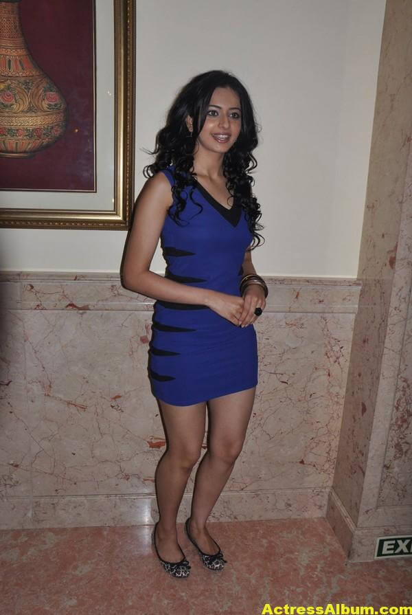 Rakul Preet Hot Photo Shoot In Beautiful Blue Dress 4