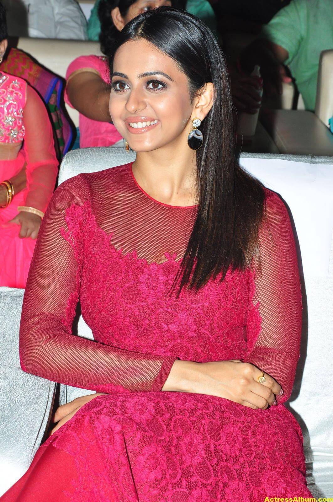 Rakul Preet Latest Photos in Pink Dress 4