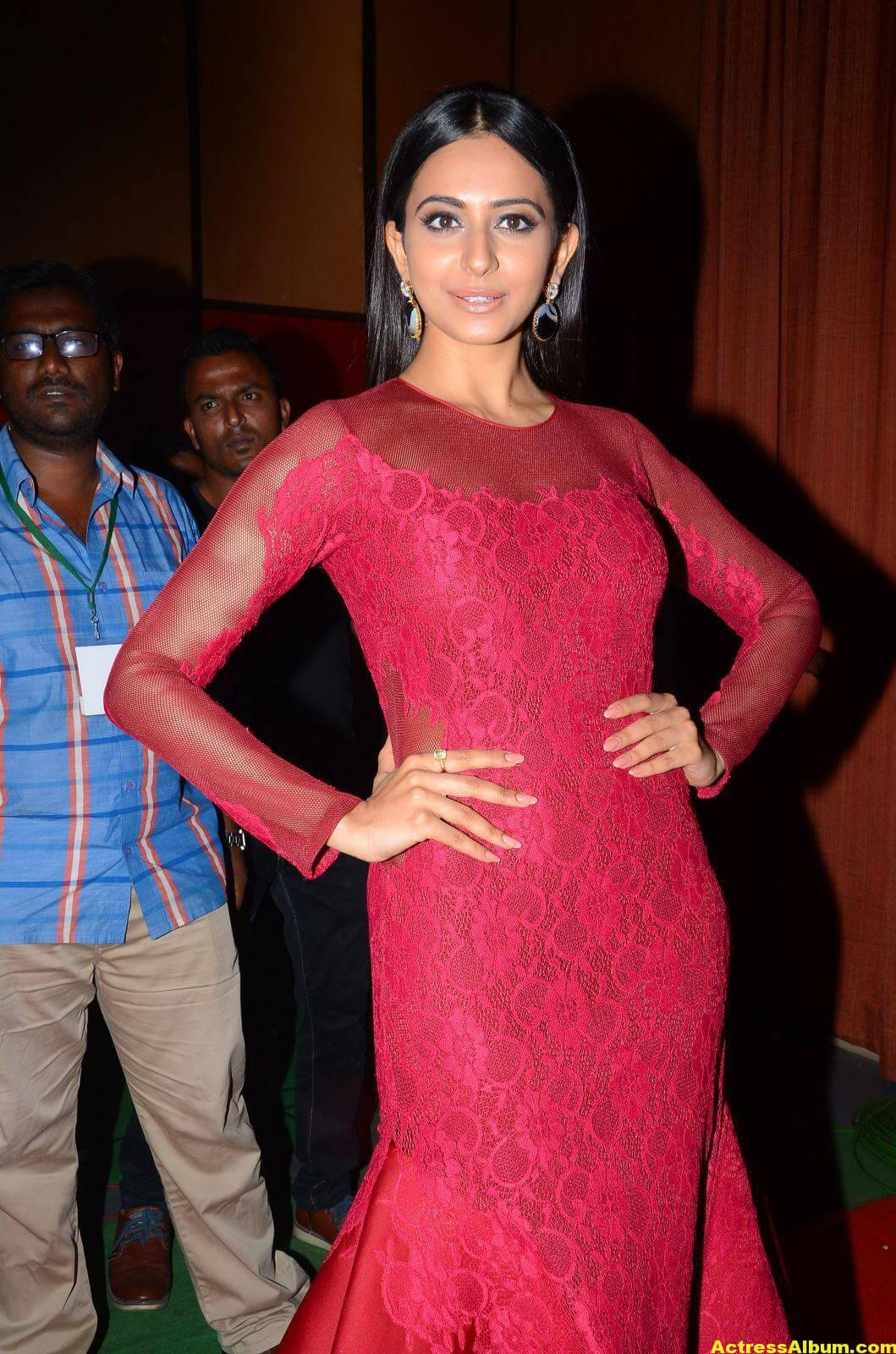 Rakul Preet Latest Photos in Pink Dress 7