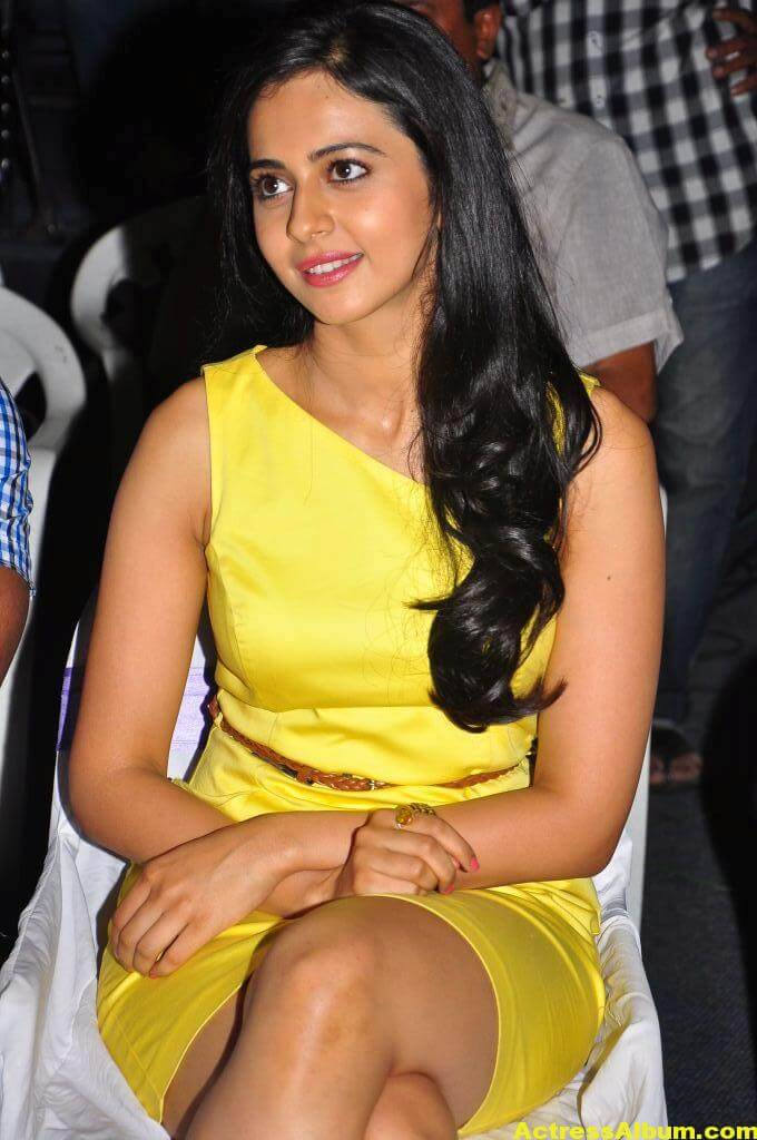 Rakul Preet Photo Shoot In Beautiful Yellow Dress 2