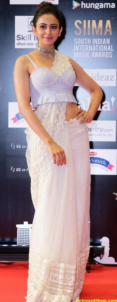 Rakul Preet Photos In White Dress At SIIMA Awards (1)