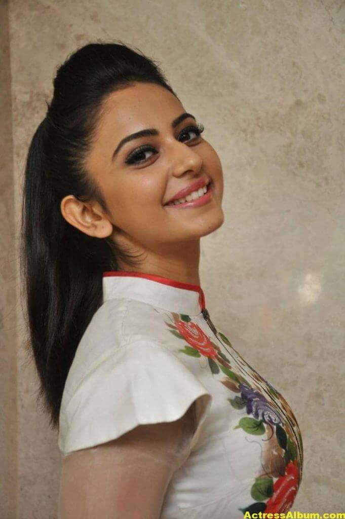 Rakul Preet Pics At Movie Success Meet In White Dress 4