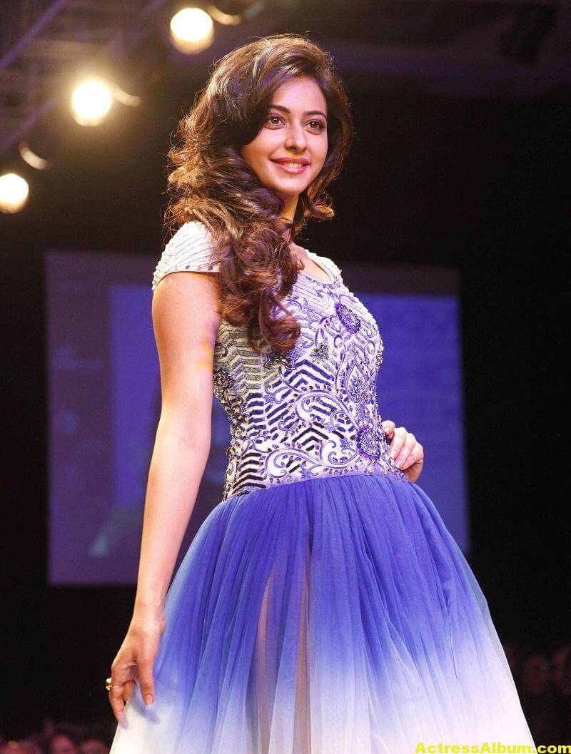 Rakul Preet Singh Gorgeous Photos In Blue Dress 3