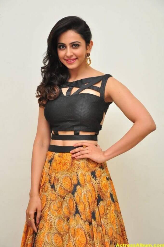 Rakul Preet Singh Images At Audio Launch In Black Dress 1