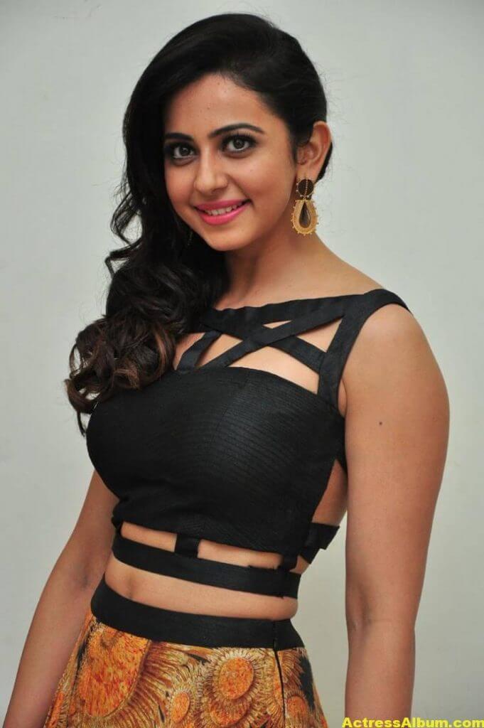 Rakul Preet Singh Images At Audio Launch In Black Dress 3