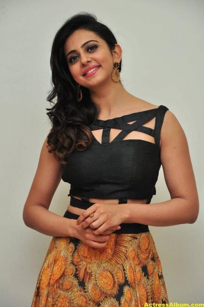 Rakul Preet Singh Images At Audio Launch In Black Dress 4