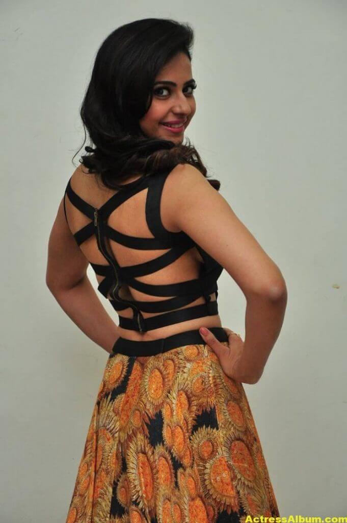 Rakul Preet Singh Images At Audio Launch In Black Dress 7