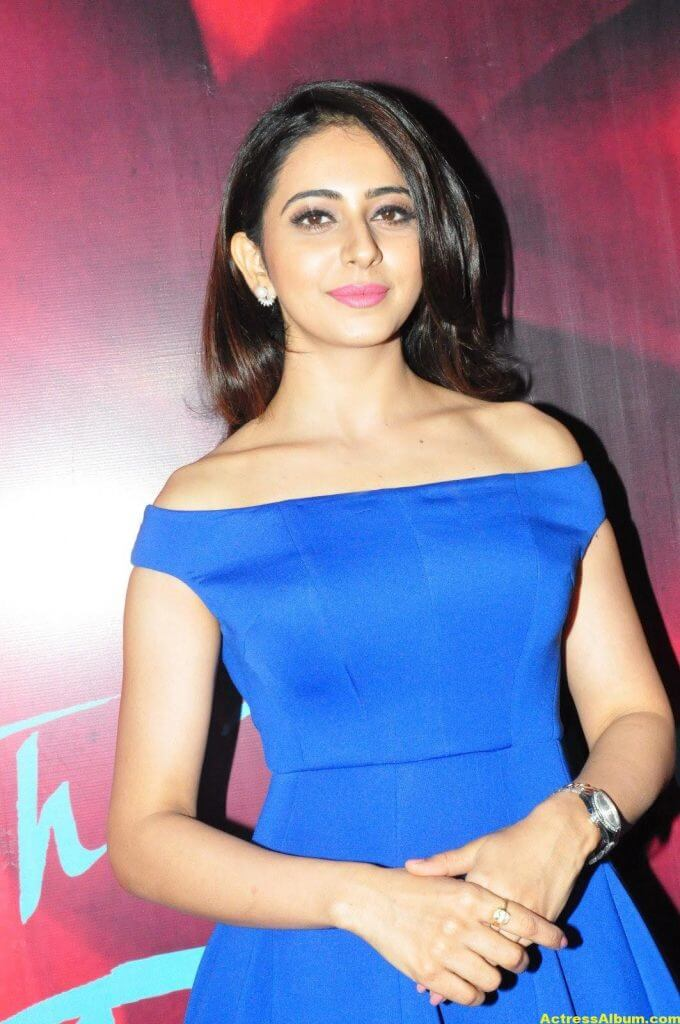 Rakul Preet Singh New Photos In Blue Dress