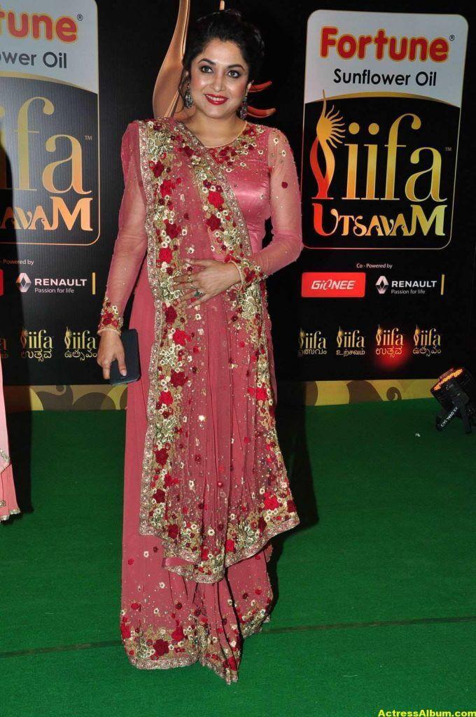 Ramya Krishna In Pink Dress