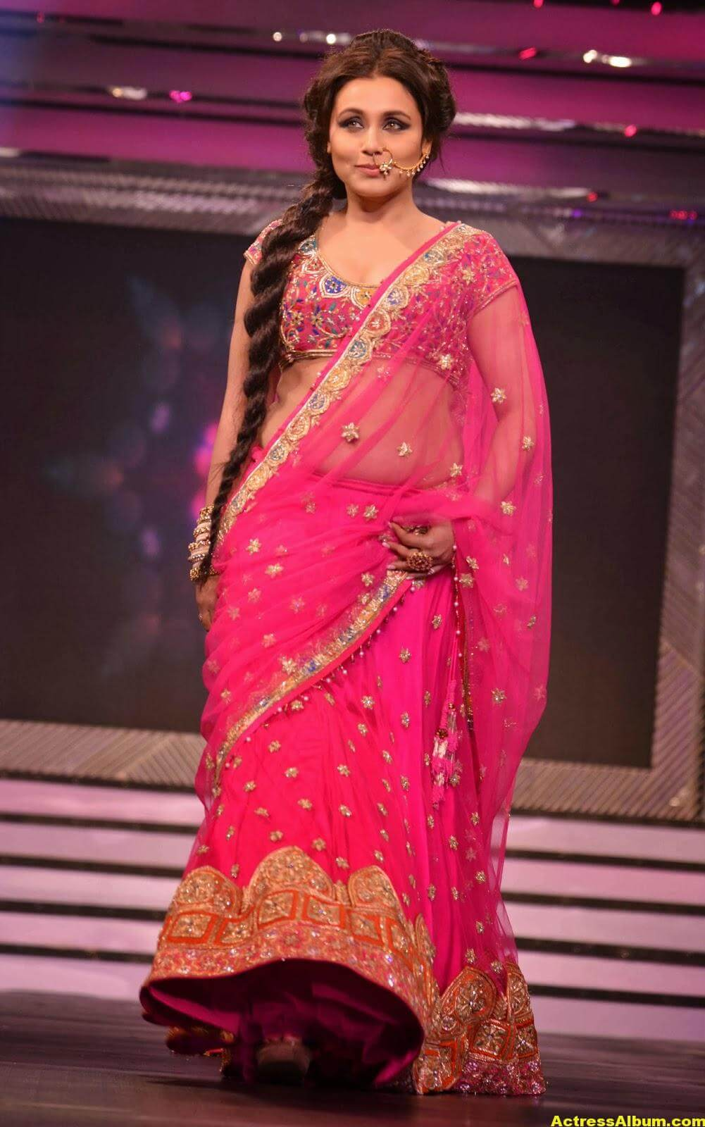 Rani Mukerji Latest Hot Photos In Pink Half Saree 1