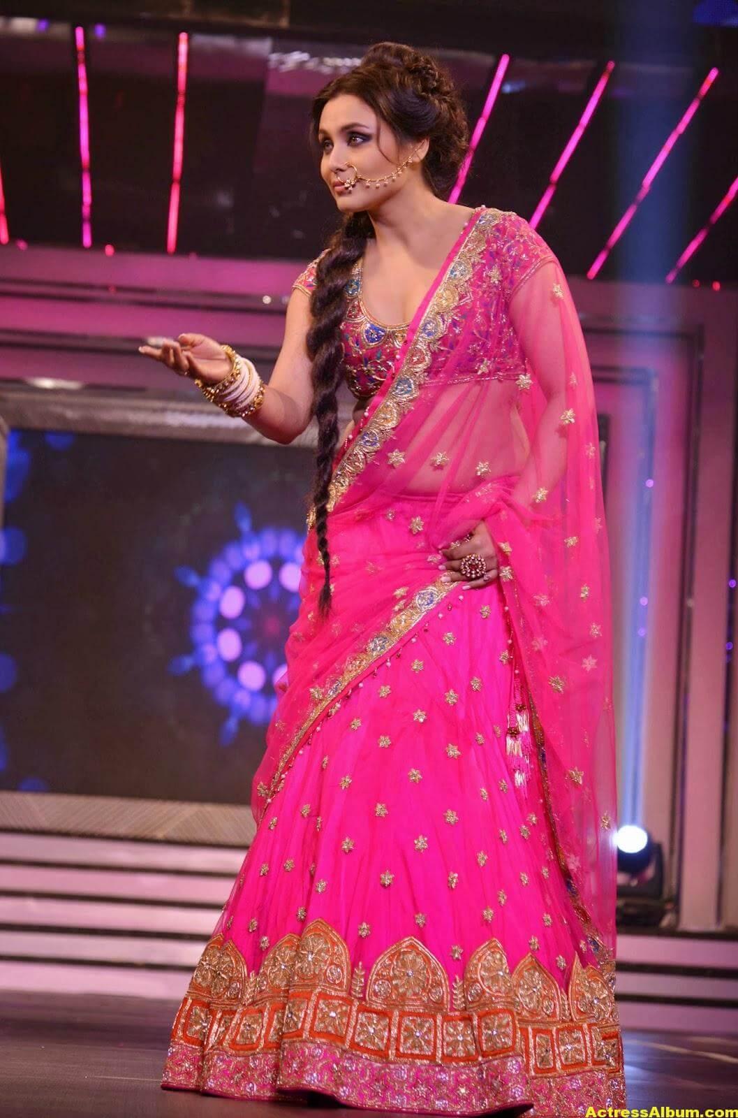 Rani Mukerji Latest Hot Photos In Pink Half Saree 2