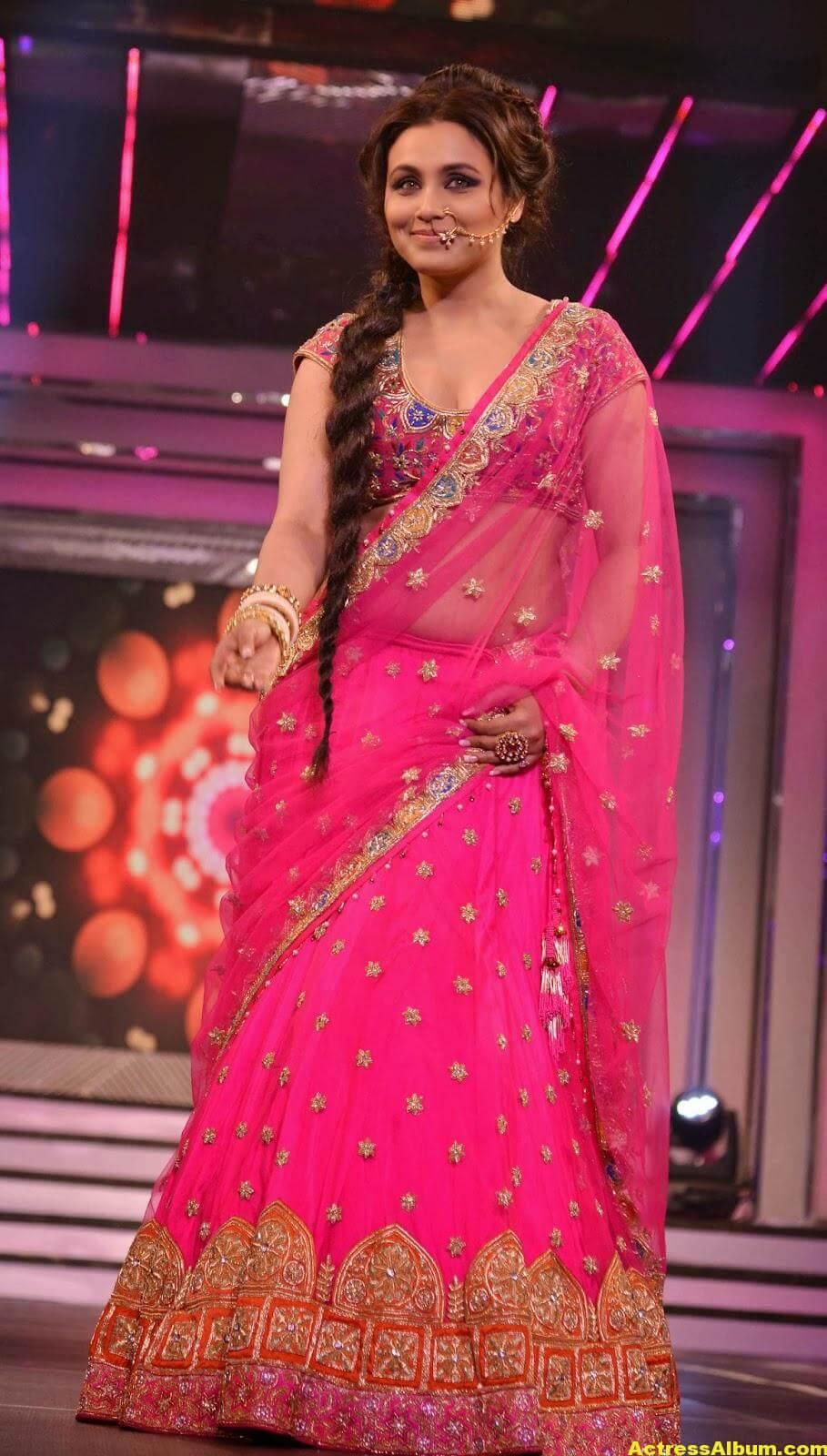 Rani Mukerji Latest Hot Photos In Pink Half Saree 3
