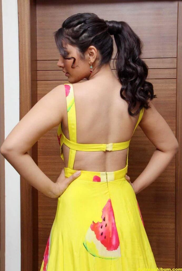 Rashi Khanna Ponytail Hair Stills yellow Dress 6