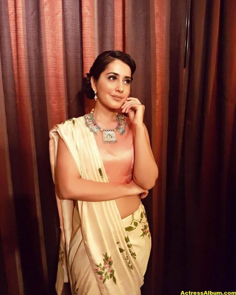 Rashi Khanna Stills In White Saree 3