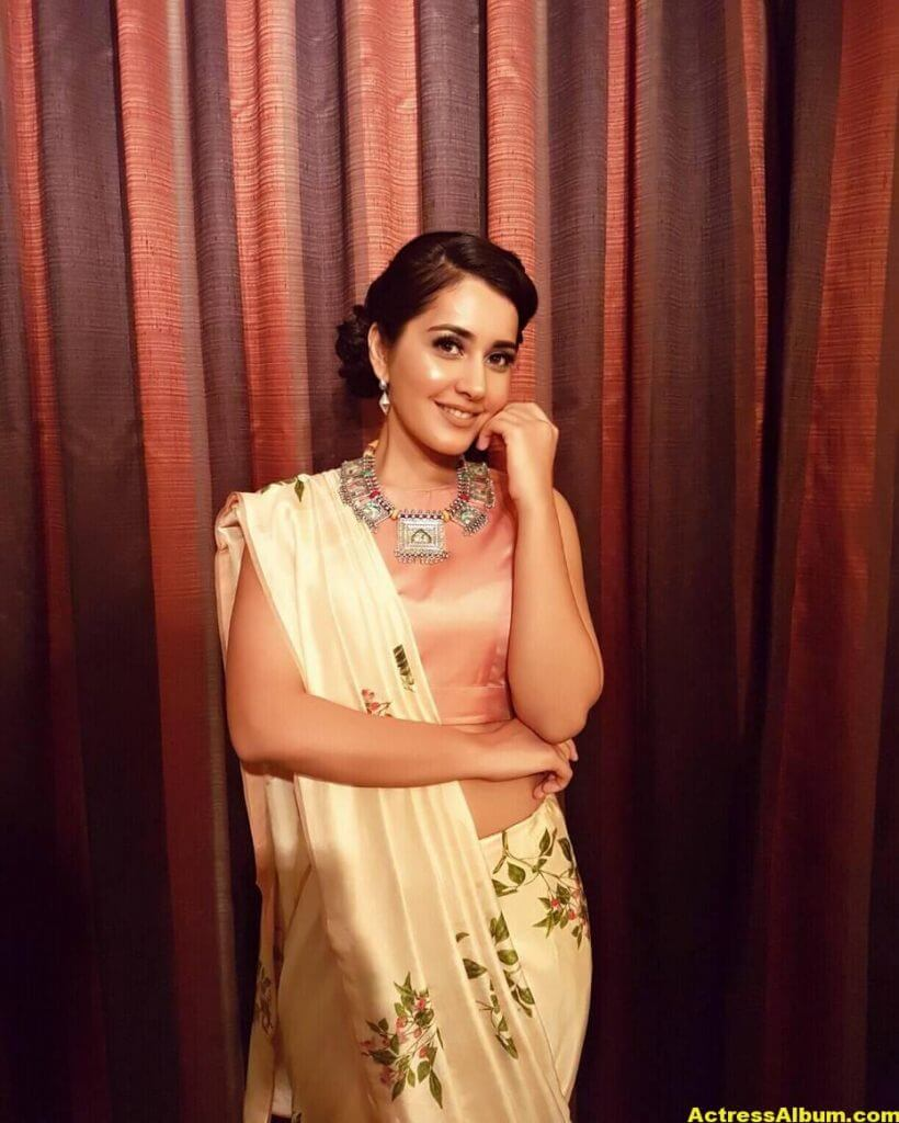 Rashi Khanna Stills In White Saree 4