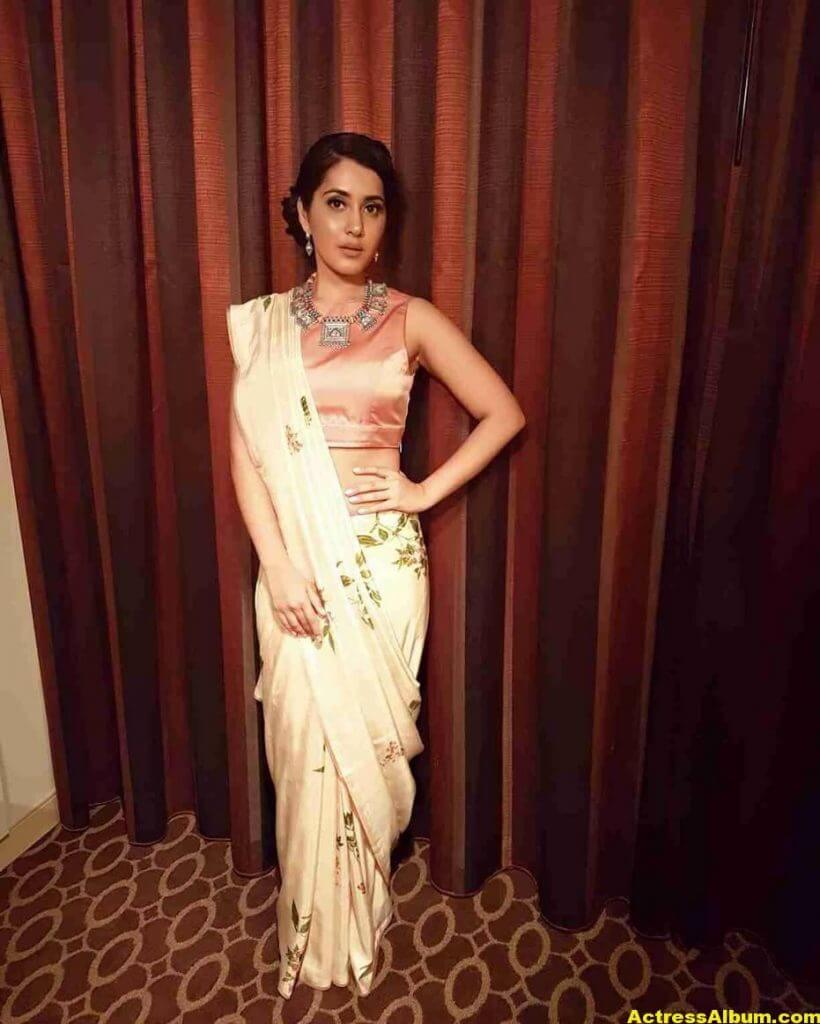 Rashi Khanna Stills In White Saree 5