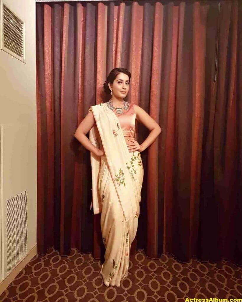 Rashi Khanna Stills In White Saree 6