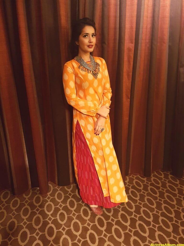 Rashi Khanna Stills In Yellow Dress