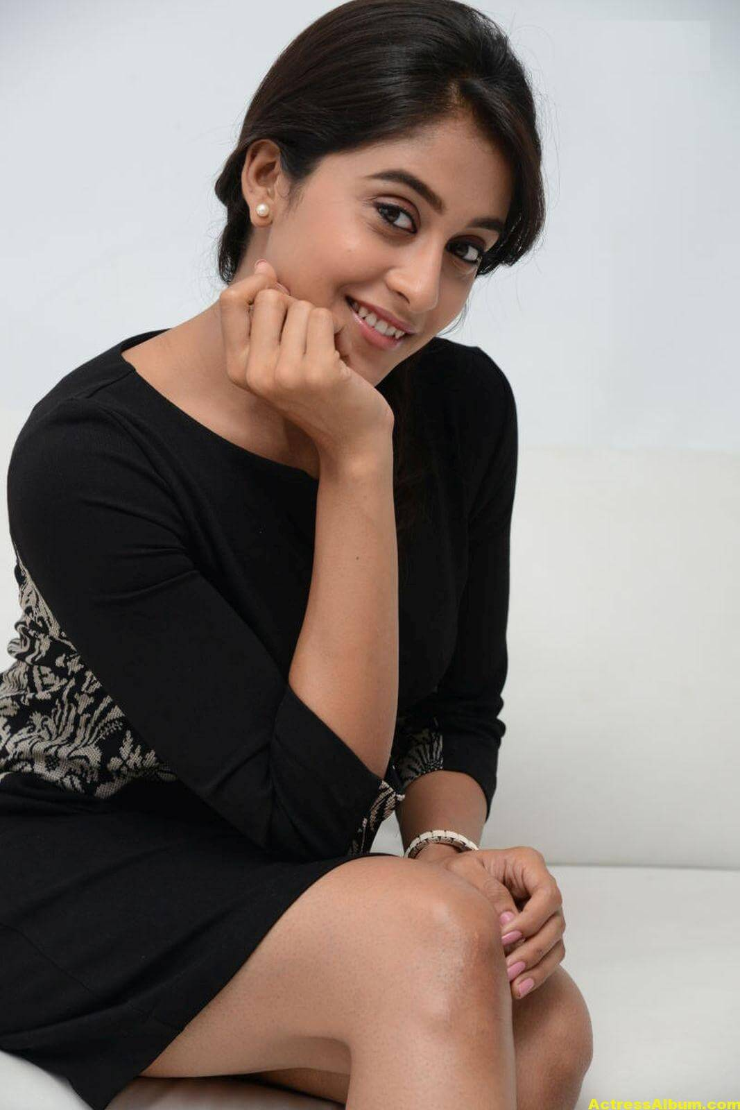 Regina Cassandra Cute Hot Photos In Black Dress 1