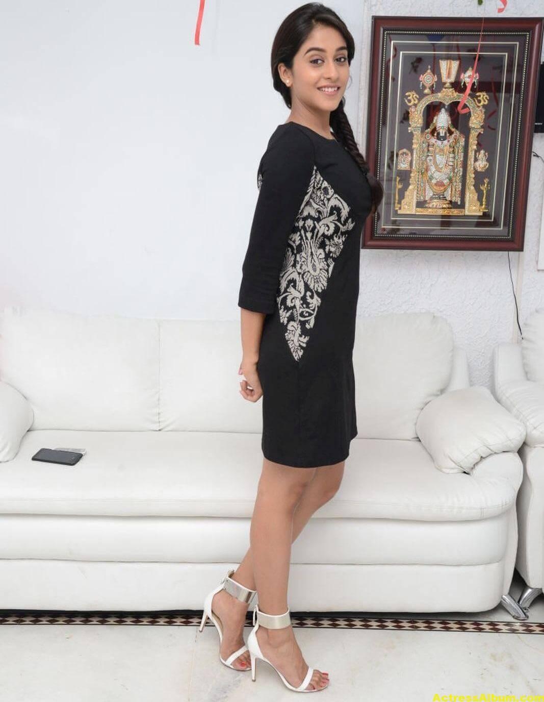 Regina Cassandra Cute Hot Photos In Black Dress 3