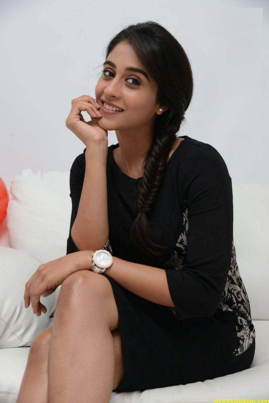 Regina Cassandra Cute Hot Photos In Black Dress 7