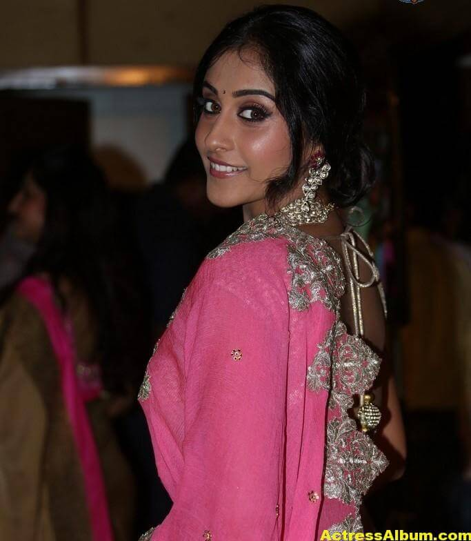 Regina Cassandra Latest Beautiful Pink Half Saree Photos 4