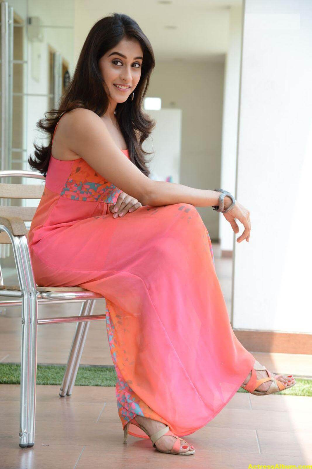 Regina Cassandra Latest Hot Photos In Pink Dress 6