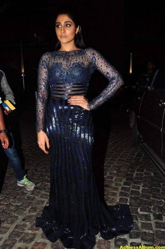 Regina Stills At Filmfare Awards In Blue Dress 1