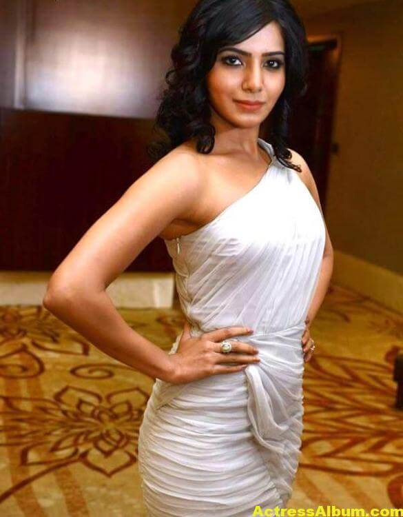 Samantha Hot Photos In White Dress 2
